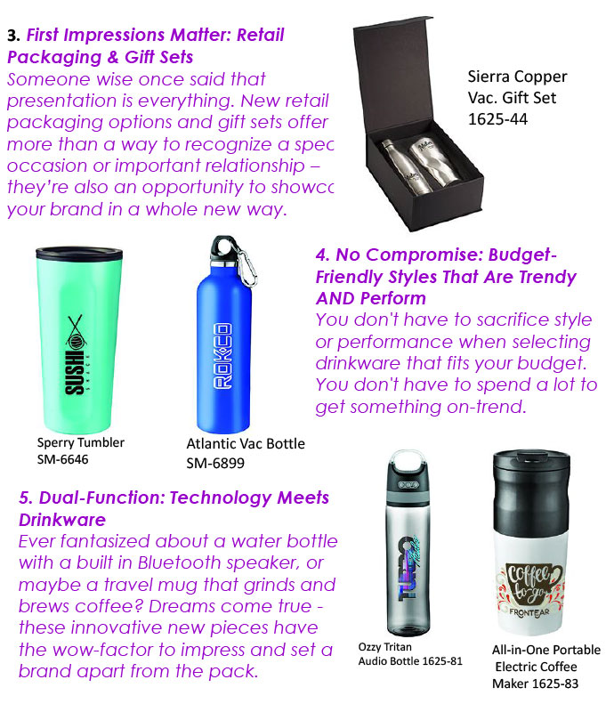 The Must Know Drinkware Trends – Bradley Marketing Solutions